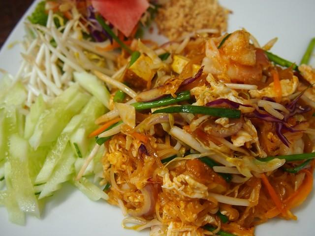 Pad Tai fried noodles Lillo Island restaurant Kamala Beach